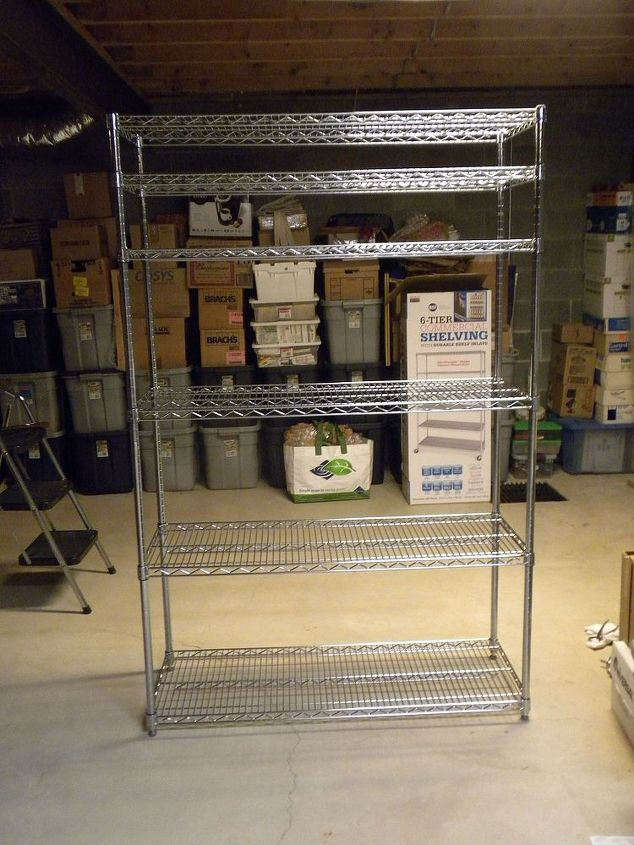 I purchased 3 shelving units from Sam's