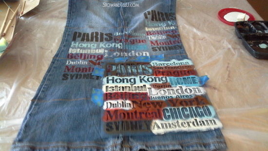 blue jean hanging organizer, crafts, diy, organizing, repurposing upcycling, storage ideas