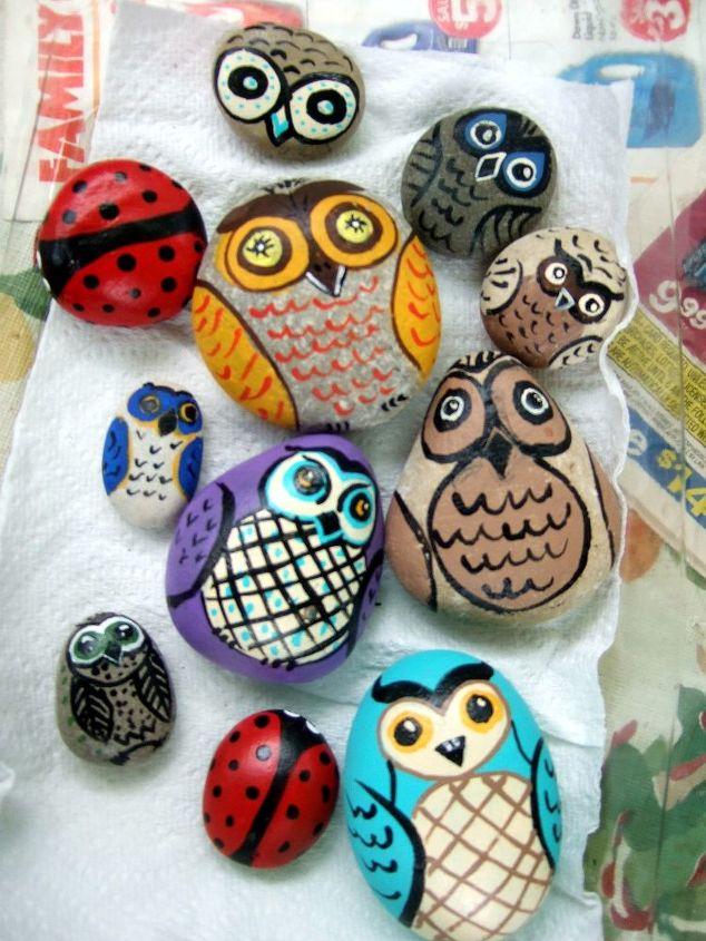 crafts painting rocks pebbles art, crafts