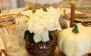 fall floral arrangement natural acorns, crafts, seasonal holiday decor