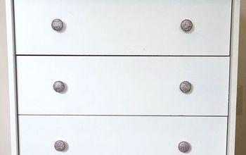 diy dresser knobs glitter mod podge budget, crafts, painted furniture