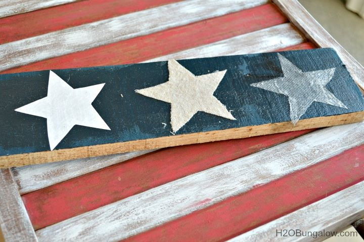 decoupage chairs americana flag makeover, decoupage, outdoor furniture, painted furniture