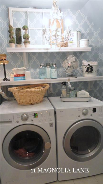 laundry room makeover small inexpensive redo, laundry rooms, lighting, organizing, shelving ideas, storage ideas