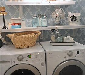 laundry room makeover small inexpensive redo laundry rooms lighting organizing shelving ideas & Inexpensive Small Laundry Room Redo   Hometalk