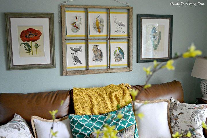 wall art repurposed window frame, home decor, living room ideas, repurposing upcycling, wall decor
