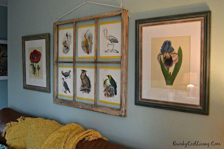 wall art repurposed window frame home decor living room ideas repurposing upcycling - Window Frame Wall Art