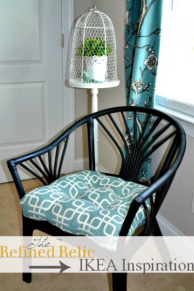 ikea rattan chair makeover update, home decor, painted furniture