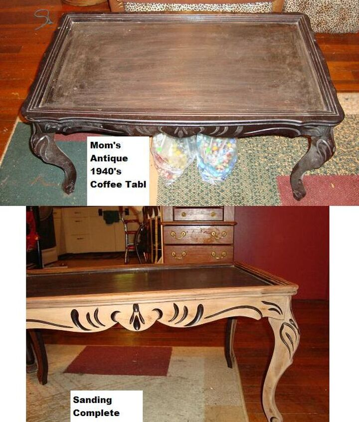 coffee table antique redo marbles upcycle, painted furniture, repurposing upcycling