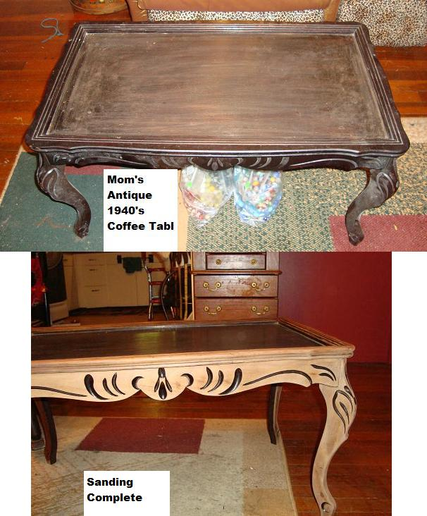 Upcycling Antique Coffee Table With Marbles