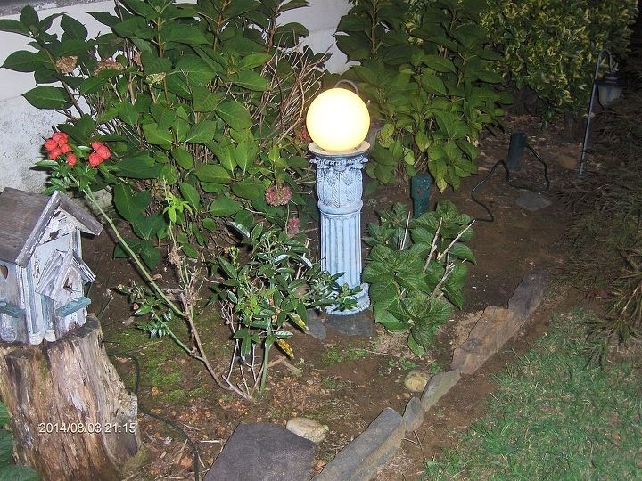 garden art gazing light homemade, lighting, outdoor living