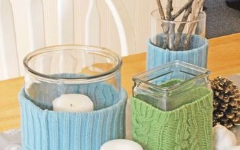 Sweater Wrapped Vases for Fall