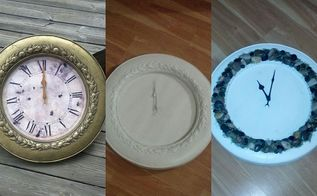 free clock makeover, crafts, repurposing upcycling