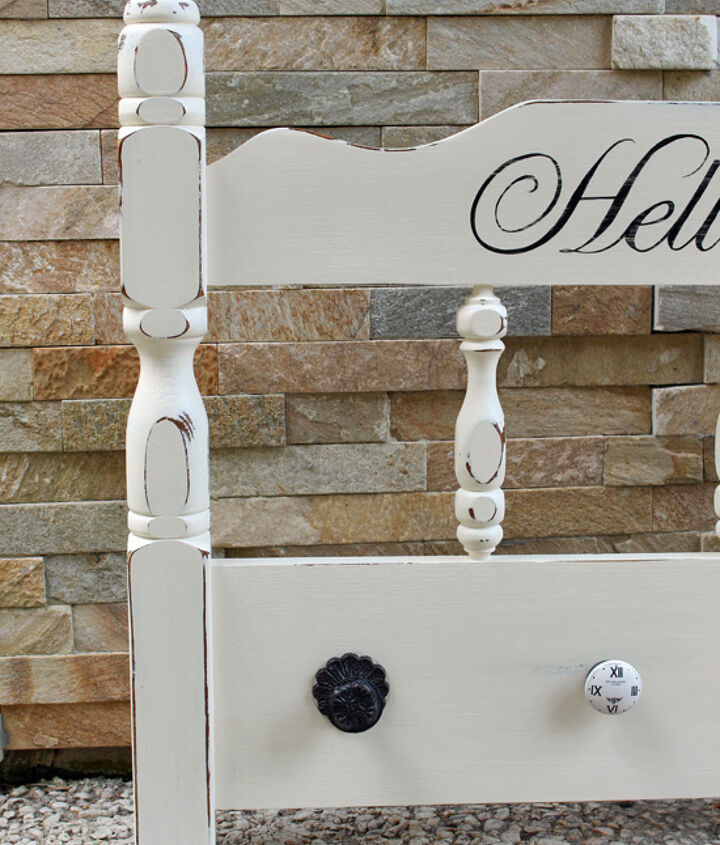 painted furniture headboard to coat organizer upcycle, chalk paint, home decor, painted furniture, repurposing upcycling, wall decor