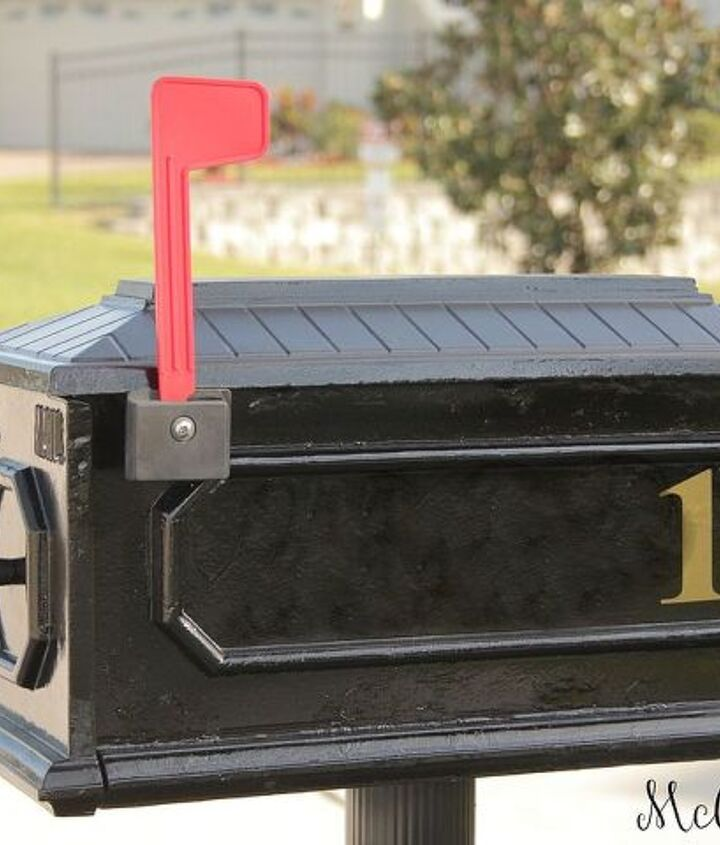 curb appeal mailbox makeover, curb appeal, painting