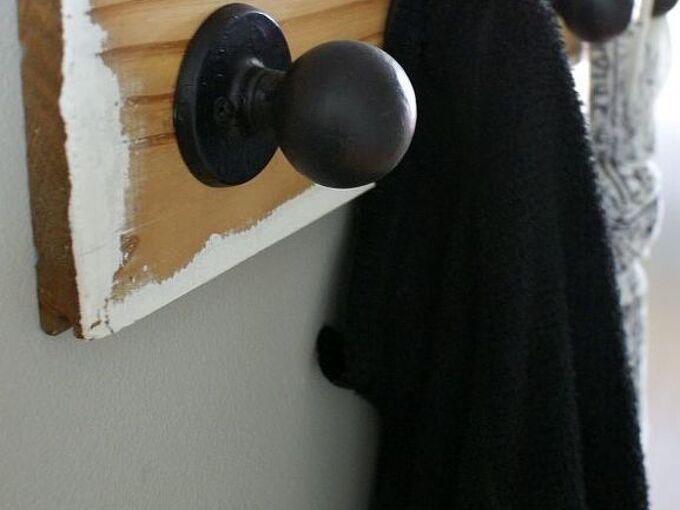 how to grippy doorknob coat hooks, how to, repurposing upcycling