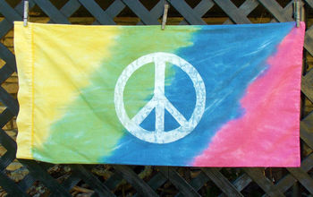 painting bed sheets groovy hippie colorful, crafts