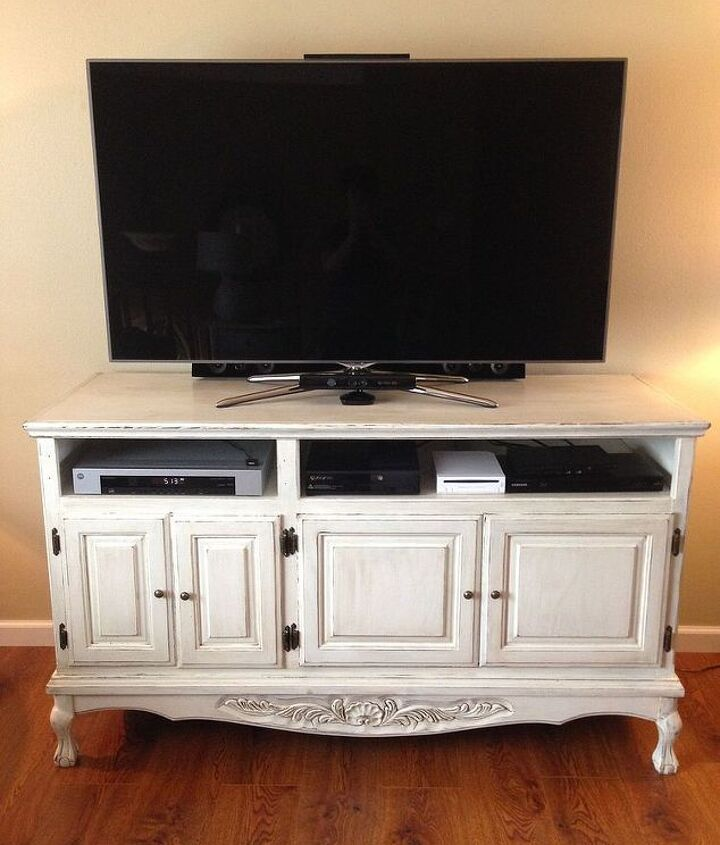 painted furniture distressed tv cabinets, chalk paint, painted furniture