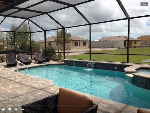 Easy Pool Deck W Privacy Screen: Florida Lanai Gardening Suggestions