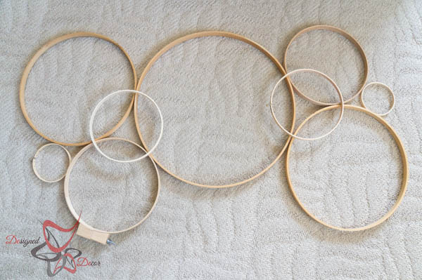 Wall Art Out of Embroidery Hoops | Hometalk