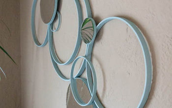Making Wall Art Out of Embroidery Hoops