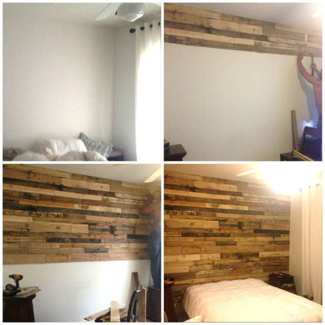 pallet accent wall home tutorial, bedroom ideas, diy, pallet, repurposing  upcycling,