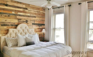 pallet accent wall home tutorial, bedroom ideas, diy, pallet, repurposing upcycling, wall decor, woodworking projects