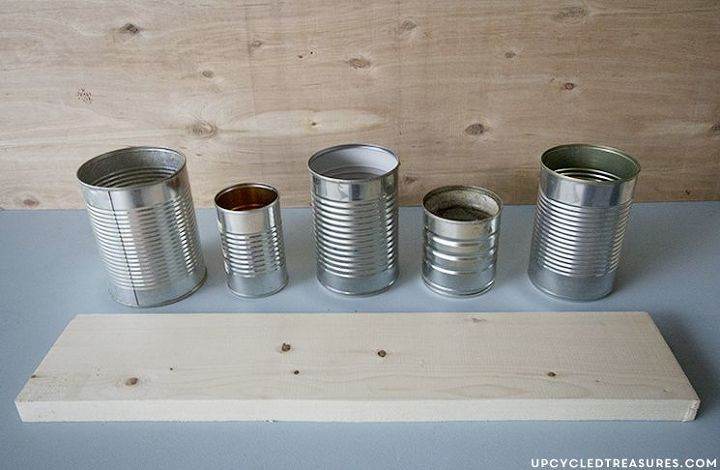 crafts tin can painted desk organizer, organizing, repurposing upcycling