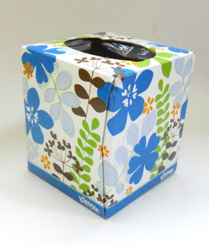 diy note pad holder tissue box kleenex repurpose, crafts, repurposing upcycling