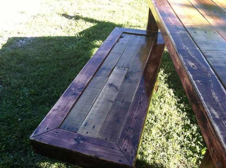 pallets farm house table west elm, diy, painted furniture, pallet, repurposing upcycling, woodworking projects