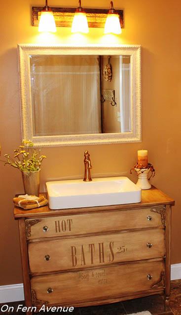 Old Dresser Turned To Bathroom Vanity Hometalk