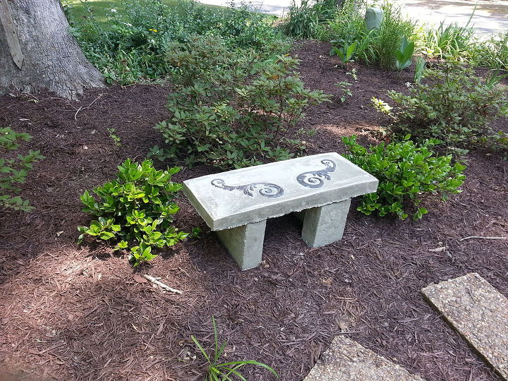 concrete tables bench garden decorative and benches portland