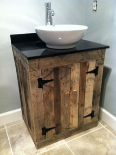 Small bathroom vanity hometalk for Bathroom ideas made from pallets