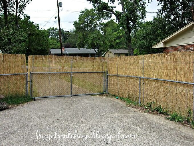 backyard ideas reed fence home depot privacy, diy, fences