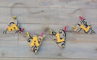 fall decor garland banner, crafts, fireplaces mantels