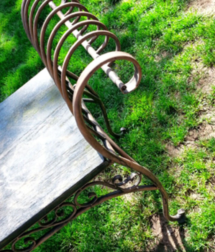 painted furniture bench wrought iron art, painted furniture, painting, reupholster, wall decor