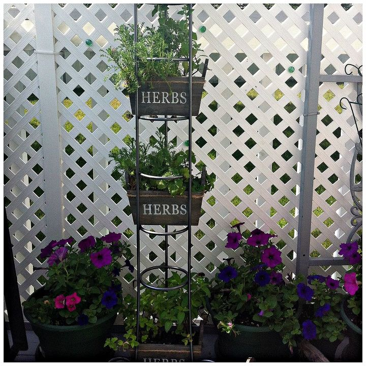 gardening cd tower turned herb rack, gardening, repurposing upcycling, Highrise Herb Garden from starrcreative