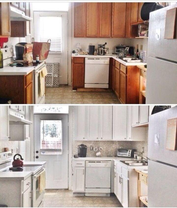 kitchen update budget before after, diy, kitchen backsplash, kitchen cabinets, kitchen design, painting, tiling
