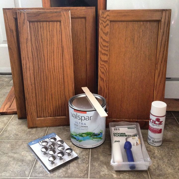Kitchen Cabinet Makeovers On A Budget: Before & After: $387 Budget Kitchen Update