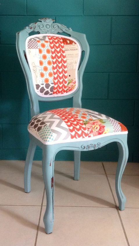 Diy Chair Upholstery Quilted Patchwork Repurposing Upcycling Reupholster
