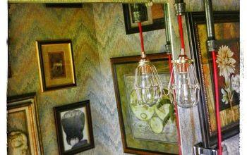 Guest Bathroom Steampunk Lighting