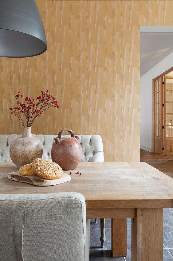 Ochre Cone Dining Room Wallpaper R2292