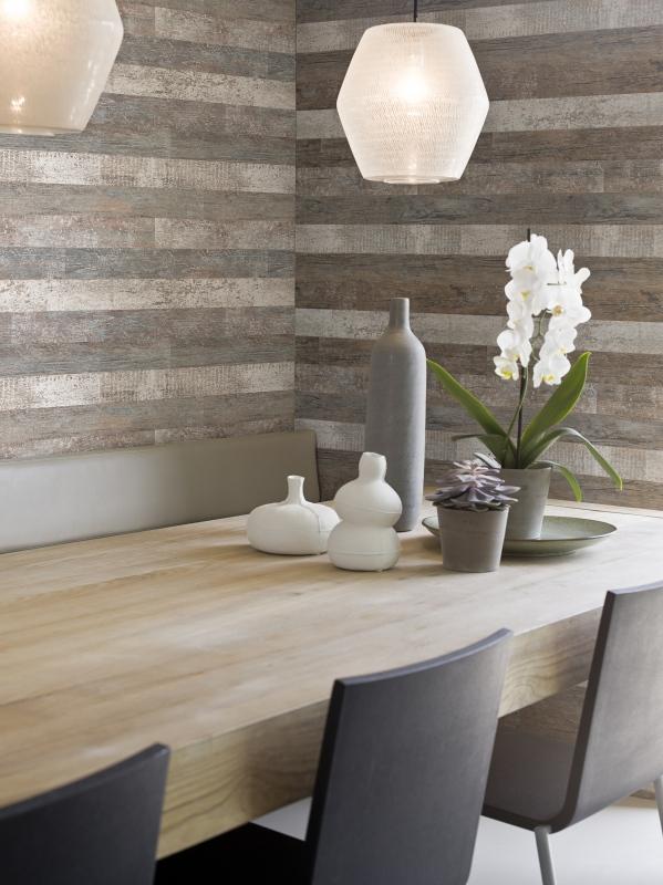 Timber Brown Faux Wood Wallpaper R1357