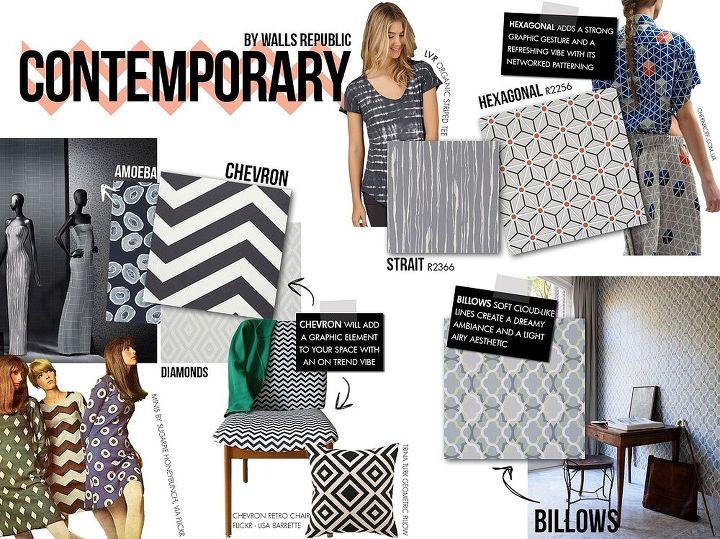 wallpaper dining room contemporary design, dining room ideas, wall decor