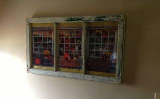 a window in a window, repurposing upcycling, wall decor, windows
