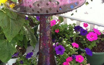 DIY Bird Bath From Repurposed Vase and Plate