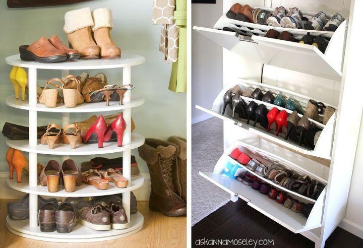 organizing ideas shoes closet, closet, organizing