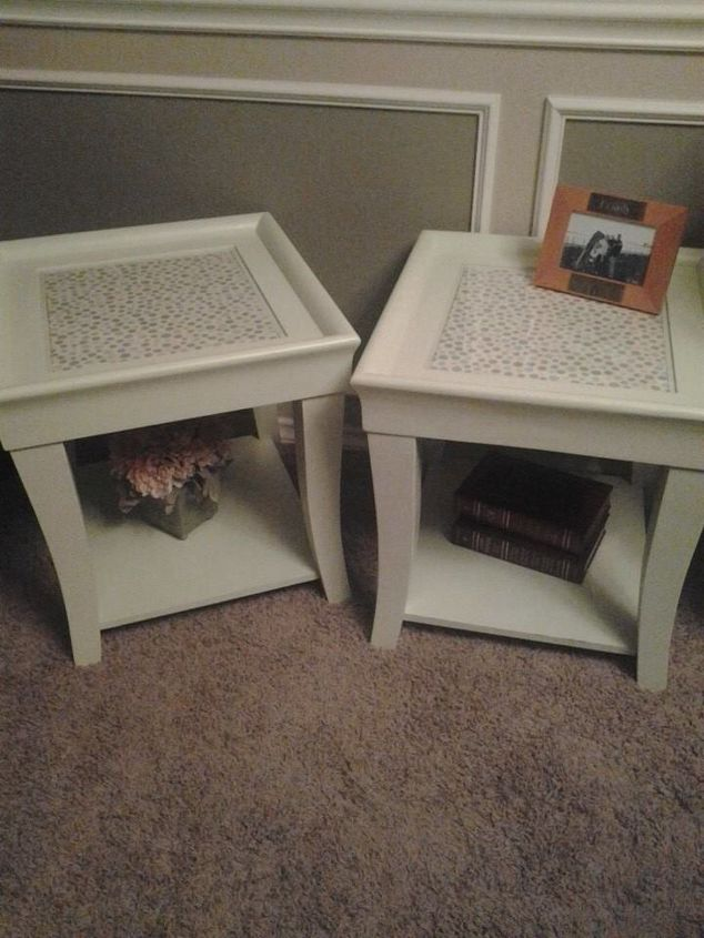 End Coffee Table Makeover Upholstered Painted Furniture Repurposing Upcycling Reupholster Finished