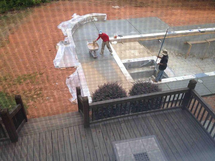 backyard pool building lowes gunite kool deck, outdoor living, pool designs