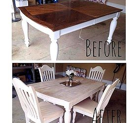 Kitchen Table Refinishing Ideas Part - 20: Painting Staining Kitchen Table, Painted Furniture