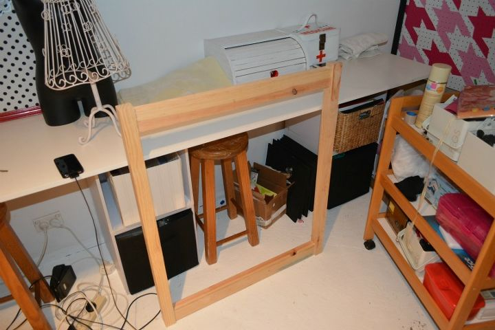 woodworking fold out desk craft, painted furniture, repurposing upcycling, woodworking projects